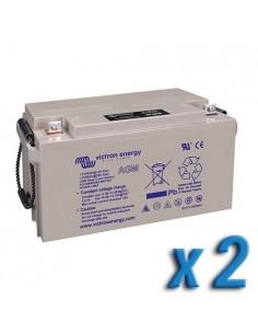Set 2 x Batterie 90Ah 12V AGM Deep Cycle Victron Energy Photovoltaïque Nautique