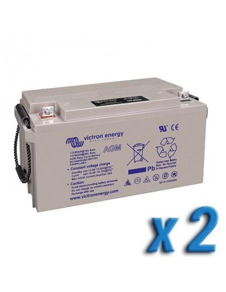 Batterie AGM DEEP CYCLE 66Ah 12V Victron Energy Photovoltaïque Nautique