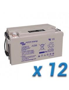Set 12 x Batterie 90Ah 12V AGM Deep Cycle Victron Energy Photovoltaïque Nautique
