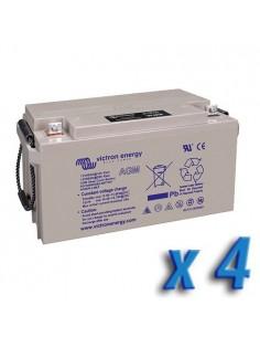 Set 4 x Batteria 110Ah 12V AGM Deep Cycle Victron Energy Fotovoltaico Camper