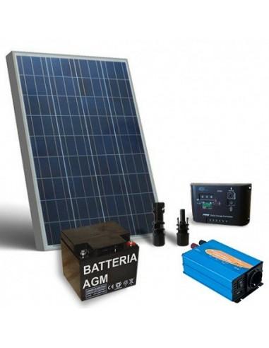 Kit Solare Baita Base 130W 12V Impianto Fotovoltaico Stand-Alone Isola