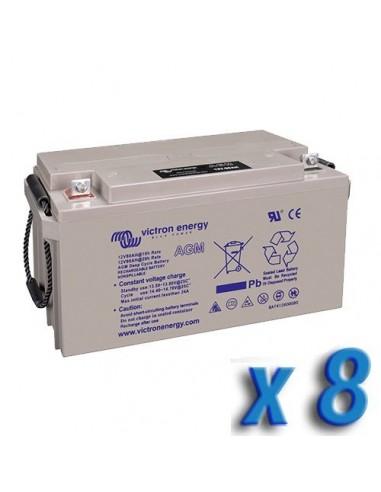 Set 4 x Batteria 220Ah 12V AGM Deep Cycle Victron Energy Fotovoltaico Camper