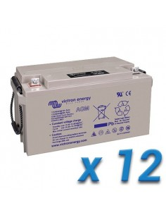 Set 12 x AGM Deep Cycle Battery 220Ah 12V Victron Energy Photovoltaic Camper
