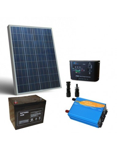 Kit Chalet 80W 12V Pro Panneau Solaire Regulateur de Charge Batterie Onduleur