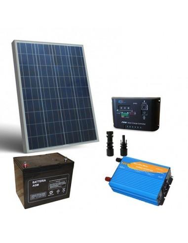 Kit Chalet 100W 12V Pro Panneau Solaire Regulateur de Charge Batterie Onduleur