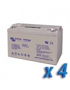Set 4 x GEL Deep Cycle Battery 110Ah 12V Victron Energy Photovoltaic Camper