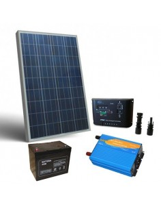 130W 12V Cabin Solar Kit Pro Panel Inverter Battery Charger Controller MC4