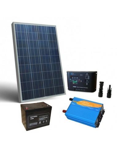 Photovoltaik Kits 130W 12V Pro Hutte Solarmodul Laderegler Wechselrichter
