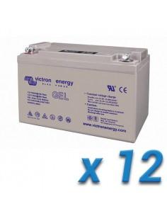 Set 12 x Batería 110Ah 12V GEL Deep Cycle Victron Energy Fotovoltáico Cámper