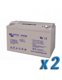 Set 2 x Batería 130Ah 12V GEL Deep Cycle Victron Energy Fotovoltáico Cámper