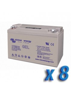 Set 8 x GEL Deep Cycle Battery 130Ah 12V Victron Energy Photovoltaic Camper