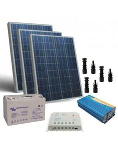 Kit Solaire Chalet Pro 300W 12V Panneau Regulateur de Charge Batterie Onduleur