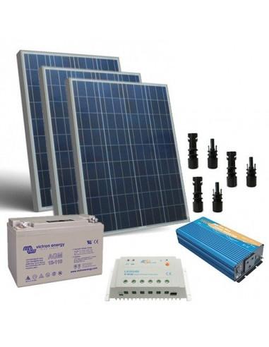 300W 12V Solar Chalet Pro Solar Panel Inverter Battery Charger Controller MC4