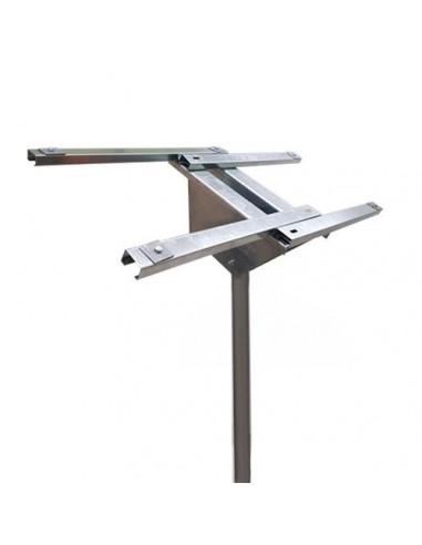 Supporto Testapalo di fissaggio per pannelli solari 100W 130W 150W Fotovoltaico