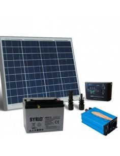 Kit solare baita 50W 12V Base pannello regolatore carica inverter batteria 40Ah