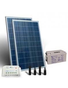 Kit Solare Pro 200W 12V Pannello Fotovoltaico Regolatore 20A PWM Batteria 110Ah