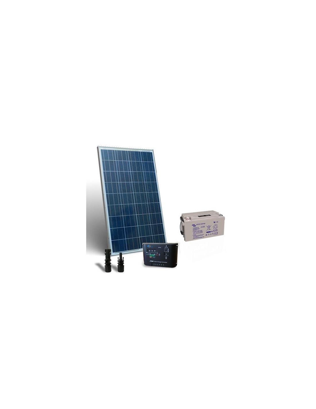 Kit Pannello Solare Fotovoltaico : Kit solare pro w v pannello fotovoltaico regolatore