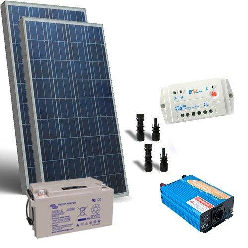 Kit Pannello Solare Inverter : Kit solare baita w v base pannello regolatore