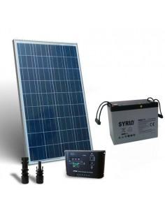 Kit Solare Pro 100W 12V Pannello Fotovoltaico Regolatore 10A PWM Batteria 80Ah