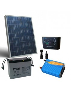 Kit solare baita 100W 12V Pro pannello regolatore inverter batteria 80Ah