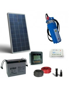 Kit Solare Irrigazione 130W 12V 170 L/h prevalenza 30mt Pompaggio Batteria 80Ah