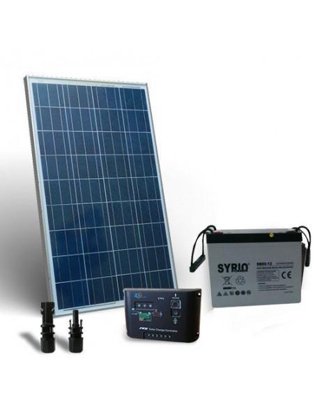 Kit Solare Pro 80W 12V Pannello Fotovoltaico Regolatore 5A-PWM 1xBatteria 40Ah