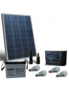 Kit d'éclairage solaire LED 80W 12V pour Intérieur Photovoltaique batterie 60Ah