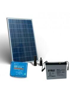 Kit Solare 80W 12V Pro2 Pannello Fotovoltaico Regolatore 10A MPPT Batteria 60Ah