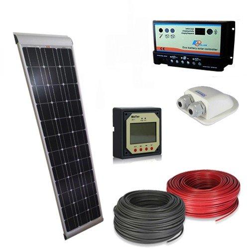 Kit Pannello Solare 100w : Kit solare camper w v slim pro pannello fotovoltaico