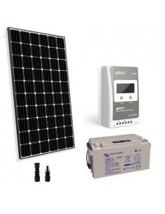 Kit solaire pro 300W 12V Panneau Regulateur Europeèn 30A MPPT Batterie 110Ah