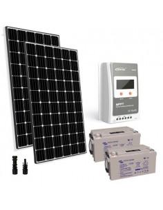 Kit solaire Pro 600W 24V Panneau Européen Regulateur 30A MPPT Batterie 110Ah