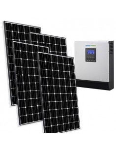 Solar Kit Base 2.4kW 48V for House Photovoltaic System Off-Grid Accumulation