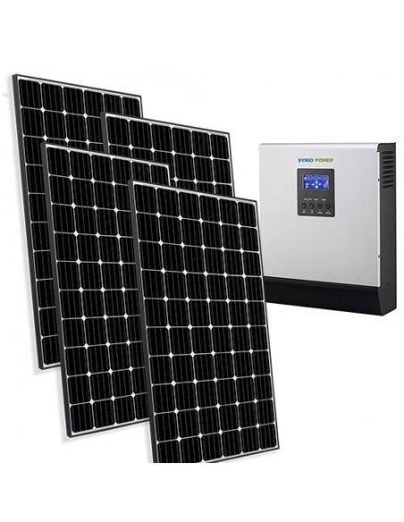 Kit Casa Solare Base 1.2kW 24V Impianto fotovoltaico Accumulo Stand-Alone Isola