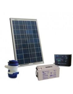 Kit Solare Irrigazione 32 l/m 12V Pannello Regolatore carica Pompa Batteria 22Ah