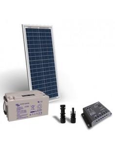 Kit Solare Pro 30W 12V Pannello Fotovoltaico Regolatore 5A PWM Batteria 22Ah 12V