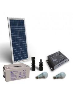Kit Solare Illuminazione LED 30W 12V per Interni Fotovoltaico Batteria 22Ah