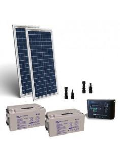 Kit solaire electrifiee portes 60W 24V Panneaux Regulateur Charge batterie 22Ah