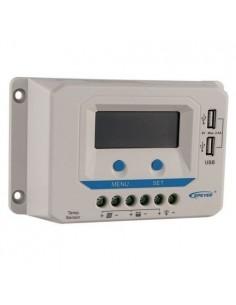Regolatore di Carica PWM 20A 12/24V EP Solar Fotovoltaico Display e USB