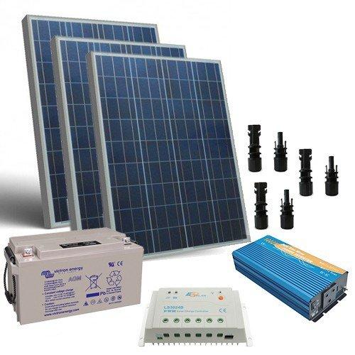 Kit Pannello Solare Batteria Inverter : Kit solare baita w v pro batteria ah inverter