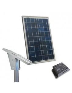 Kit Solare Plus 10W Pannello Fotovoltaico Regolatore 5A supporto Testapalo