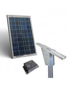 Solar Kit Plus 20W Photovoltaics Panel Charge Controller 5A Light Pole Support