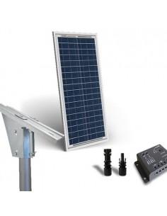 Kit Solaire Plus 30W Panneau Solaire Regolateur de Charge 5A Structure Tete