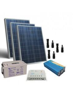300W 12V Cabin Solar Kit Pro Inverter Battery Controller MC4 Batteria 90Ah