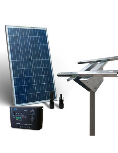 Solar Kit Plus 80W Photovoltaics Panel Charge Controller 5A Light Pole Support