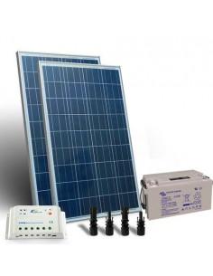 Kit Solare Pro 200W 12V Pannello Fotovoltaico Regolatore 20A PWM Batteria 90Ah