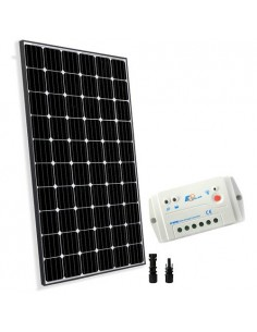 Kit Solare Base 300W 24V Pannello Europeo Regolatore 20A PWM Casa Baita