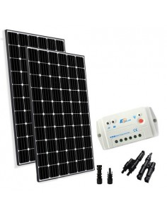 Kit Solaire Base 600W 24V Europèen Regulateur de Charge 30A PWM Maison