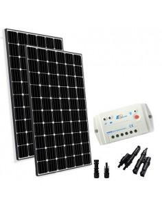 Kit Solare Base 600W 24V Pannello Fotovoltaico Regolatore 30A PWM Casa Baita