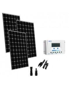 Kit Solare Base 900W 24V Pannello Monocristallino Regolatore Europeo 45A PWM