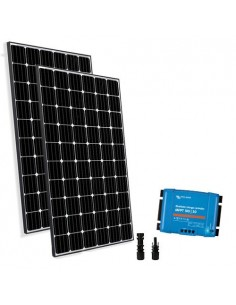 Kit Solare Base 250W Pannello Fotovoltaico + Regolatore 10A - PWM